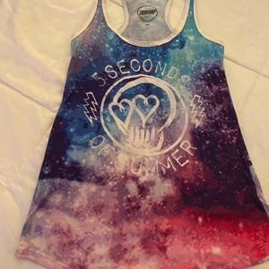 5 Seconds of Summer graphic  tank pretty colors SM